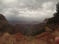 The view from the rim, after the storm.