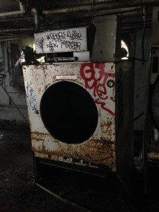 An abandoned industrial dryer