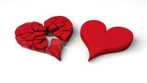 broken heart and heart