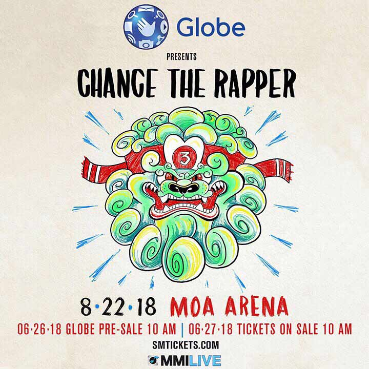 Poster for Chance The Rapper Live in Manila