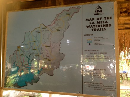 map of the la mesa watershed trails