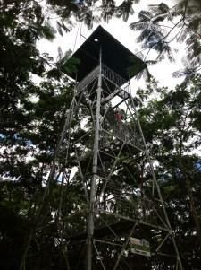 watch tower near parking