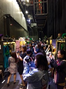 It's busy back stage