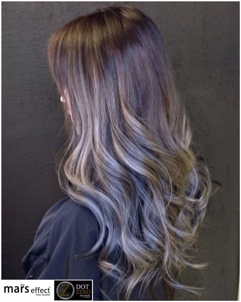 hair color in las pinas, manila salon, balayage, ash gray philippines