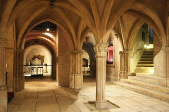inside crypt Basilica Saint Sernin