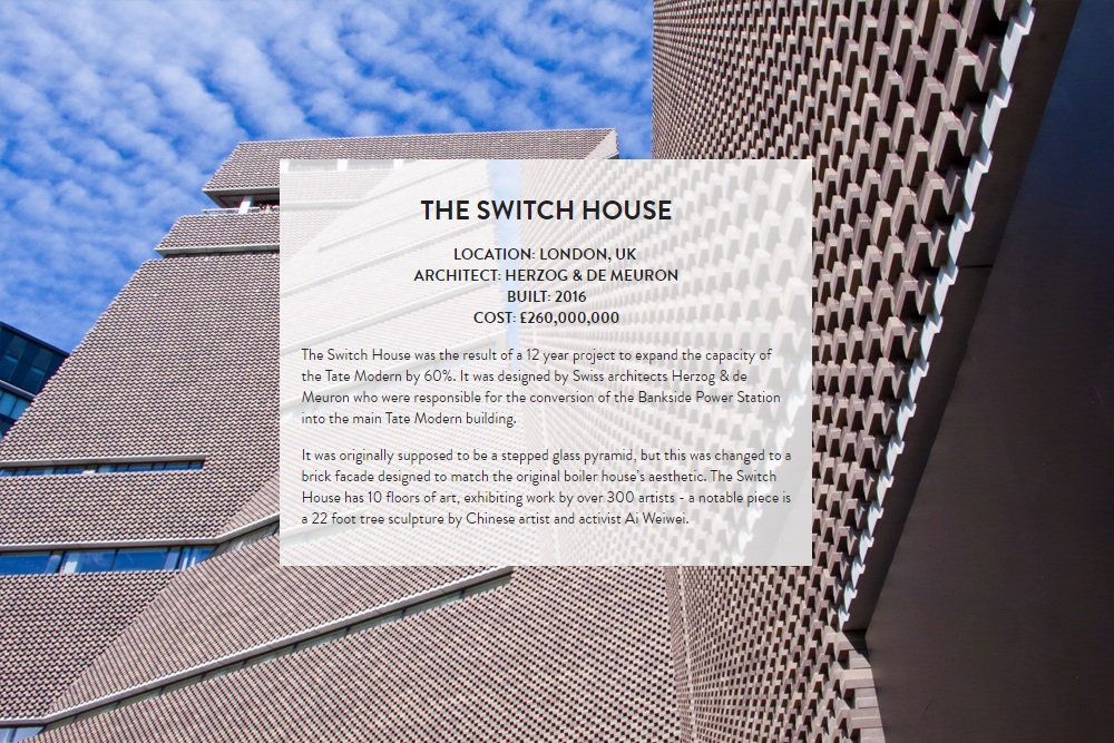London Architecture : The Switch House. Designed by Herzog & De Meuron