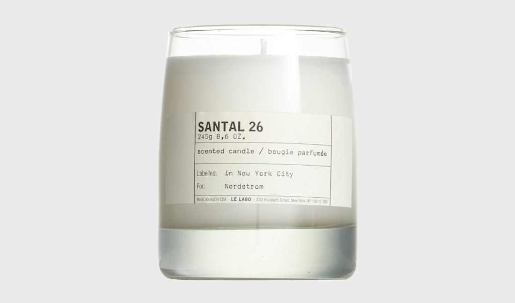 Le Labo Santal 26 Scented Candle | MANimalist Blog