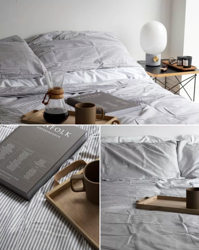 Featured : Bedding by THIRD, Menu JWDA Lamp & Skagerak Norr Tray from Utility