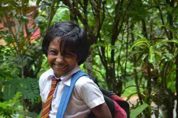 School smily kids in Plantation Villa Resort in Kalutara-Sri Lanka. maninio.com #resortsrilanka #villaresort