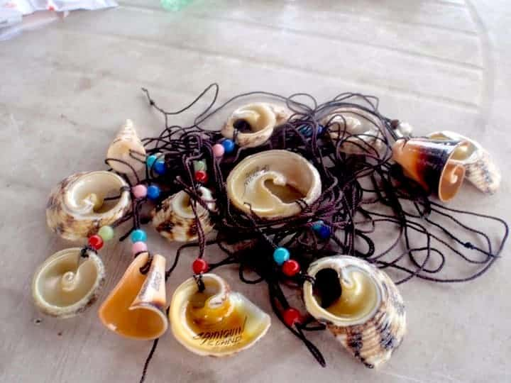 Traditional necklaces in Camiguin Island, Philippines. maninio.com #tourismphilippines #visitcamiguin