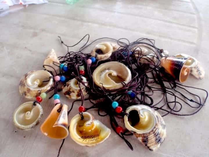 Traditional necklaces in Camiguin Island, Philippines. maninio.com #tourismphilippines #visitcamiguin