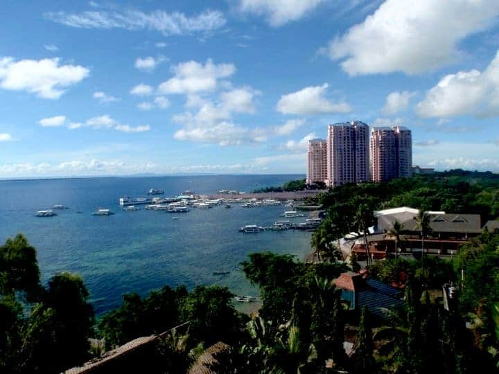 Be resort view from balcony, Cebu town- Philippines #Cebucity #Philippinesasia | maninio.com