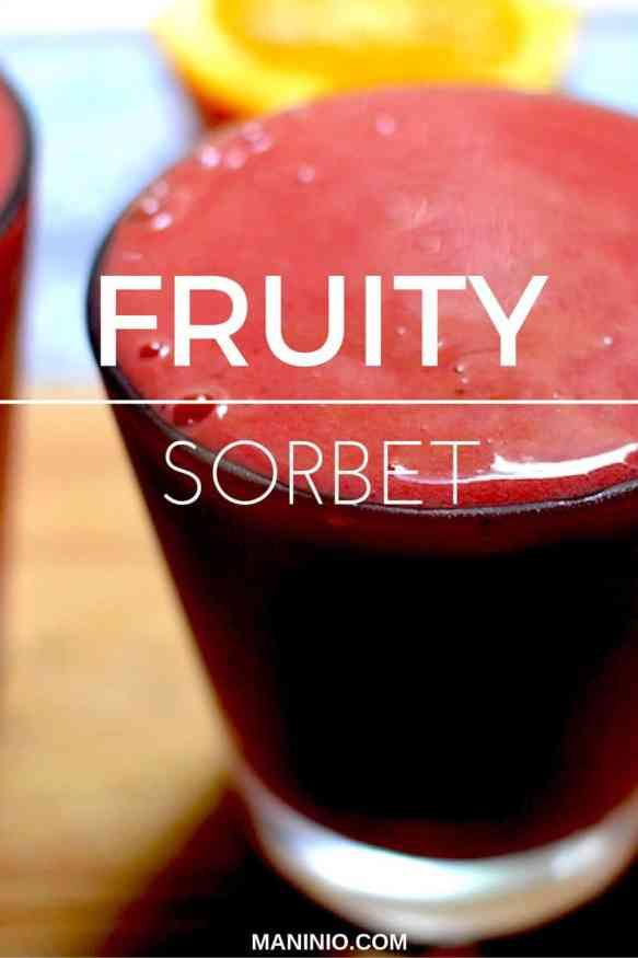 Fruity - sorbet - maninio - strawberry - smoothie - fruits