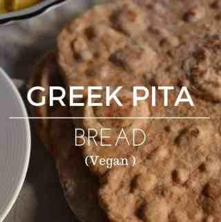 Vegan - Greek - pitta - bread