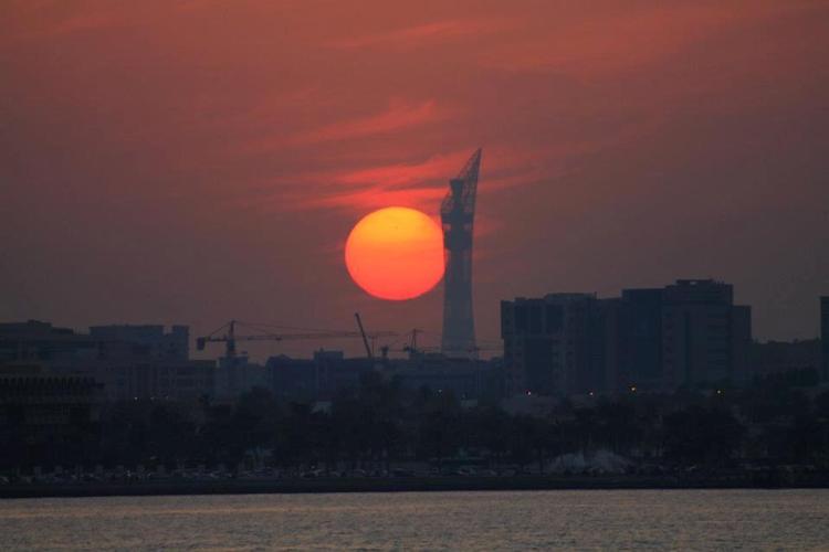 Sunset Qatar maninio.com #constructiondoha #sunsetqatar