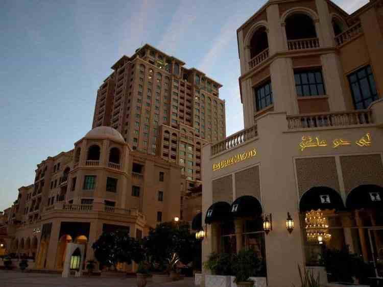 Pearl in Qatar shopping center maninio.com #constructiondoha #pearlqatar