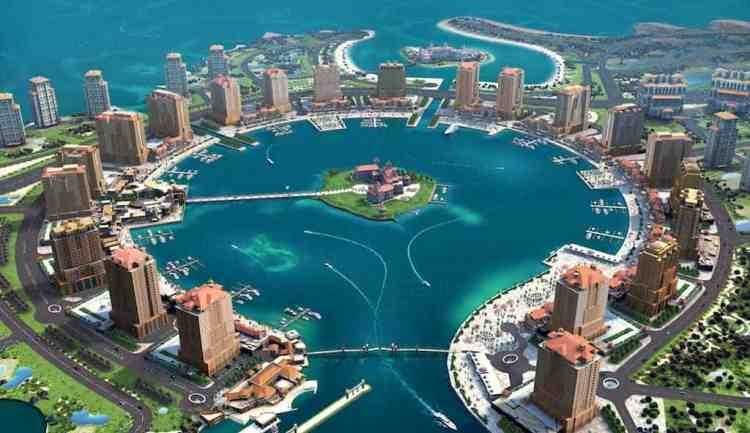 Pearl in Doha maninio.com #constructiondoha #pearlqatar