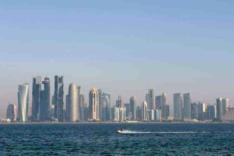 Corniche view in Qatar maninio.com #constructiondoha #cornichelqatar