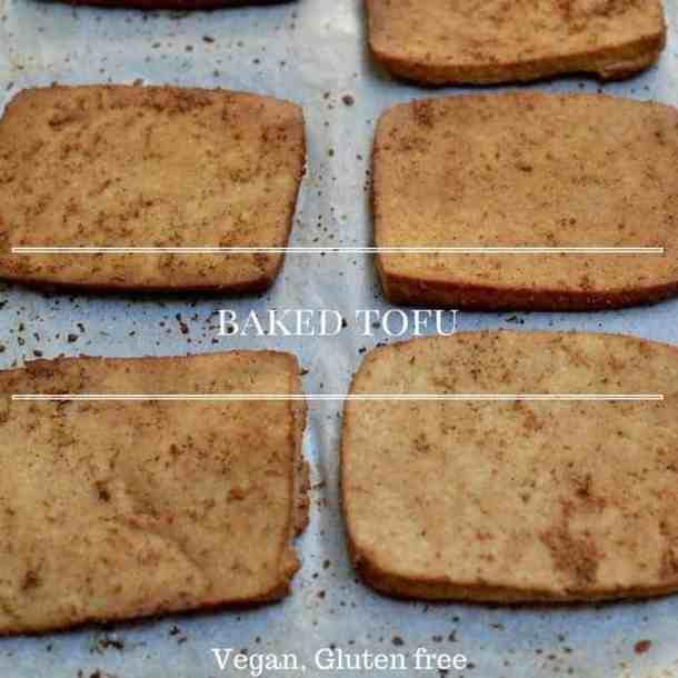 baked tofu maninio.com #vegancalcium #veganfood
