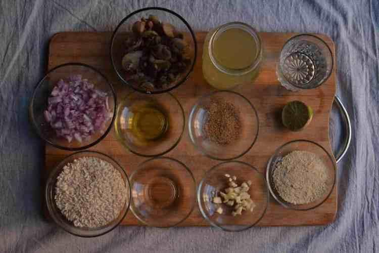 Υλικά για τέλειο Ριζότο με μανιτάρια.  #risotomushrooms #risotolove #italinarisoto