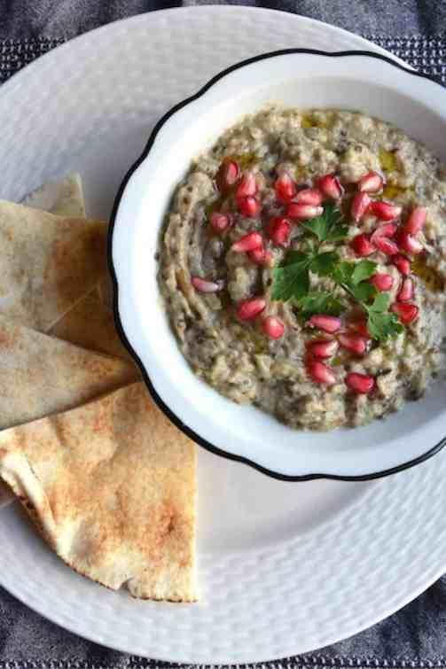Πεντανόστιμο Μουτάμπαλ (Μπαμπά Γκανούς) Μέση Ανατολή - Vegan