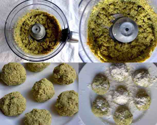 Blend the Chickpeas falafel into food processor, Middle East. maninio.com