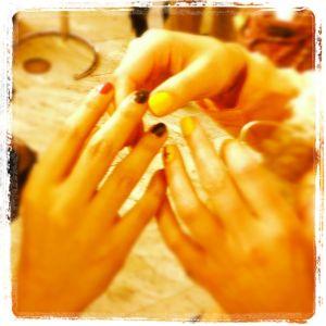 Comparing Nails - @beautygeeek & @karenlouisenail