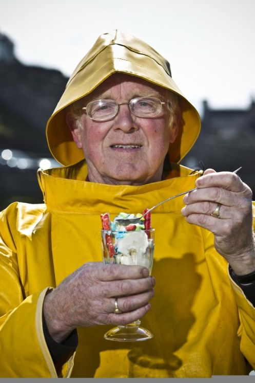 Ice cream flavoured with Fisherman's Friend tickles the tastebuds of fisherman Alex Slater.