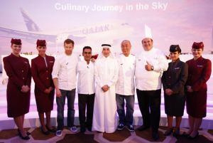 Celebrated Chefs Aikens, Nobu, Bhatia & Ramzi for Qatar Airways