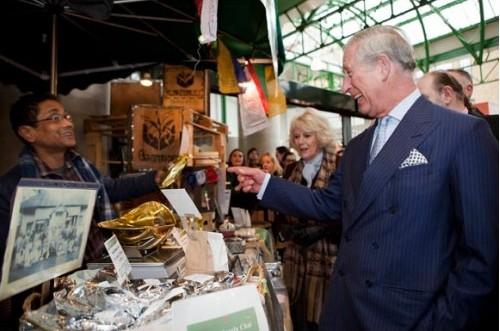 Charles and Camilla at Tea 2 You Borough Market with Ratan Mondal
