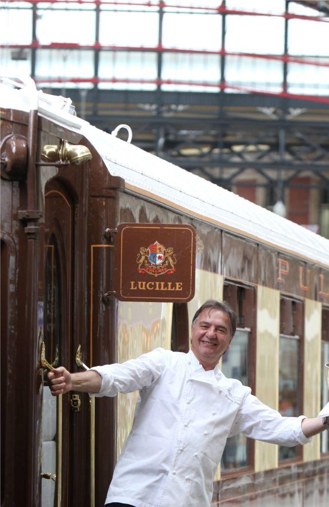 Raymond Blanc aboard  Venice Simplon Orient Express