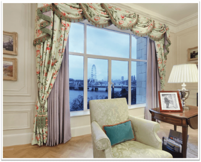 The Monet Suite at the Savoy Hotel