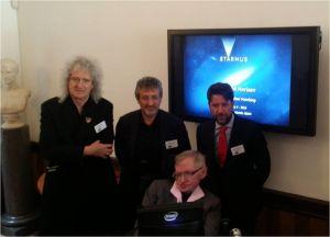 Dr Brian May, Dr. Garik Israelian Prof Stephen Hawking