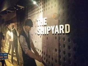 The Shipyard ride - a very gentle rollercoaster