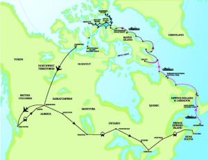 Map_Circumnavigation of Canada