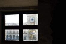 vista sulla piazza di Gualtieri dalle stanze del teatro