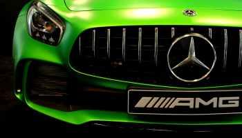 green mercedes benz amg