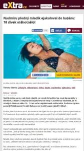 Nadmíru plodný mladík ejakuloval do bazénu 16dívek otěhotnělo eXtra.cz