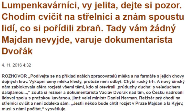 Václav Dvořák pro PL (parlamentnilisty.cz)