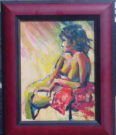 Seated Nude oil