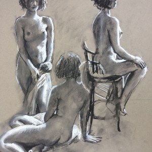 Nude Drawings and Paintings