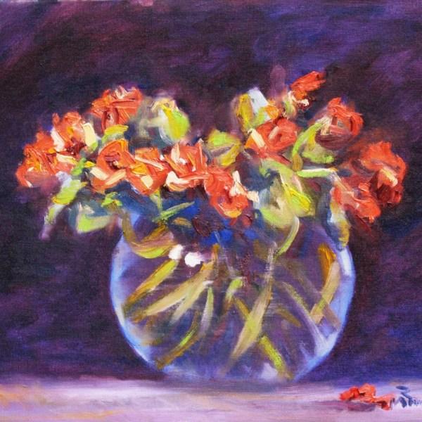 Roses in a vase still life