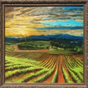 Vineyard Sunset Fantasy