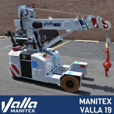 Introducing the brand new Valla 19 from Manitex Valla, with a 1,990 lbs capacity.