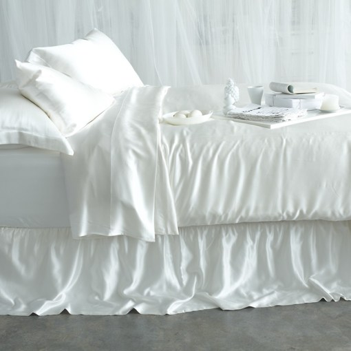 Silk Sheet Sets   Simply the Best 100  Pure Mulberry Silk Sheet Sets Champagne  Charcoal  Chocolate  Milky White