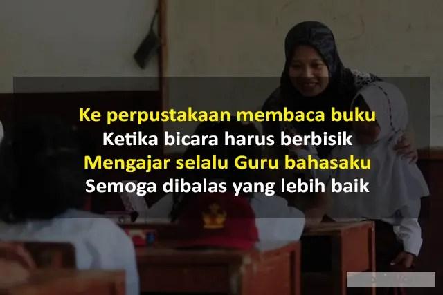 Pantun Untuk Guru Bahasa Indonesia