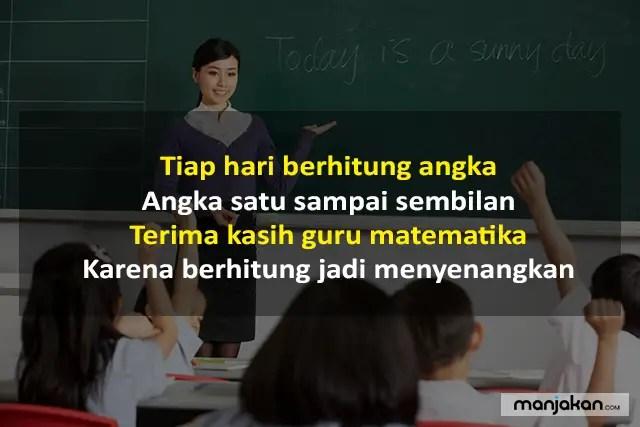 Pantun Untuk Guru Matematika