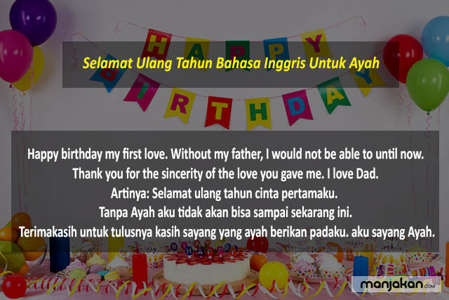 Selamat Ulang Tahun Bahasa Inggris Untuk Ayah