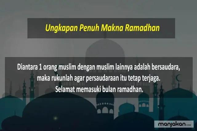 Ungkapan Penuh Makna Ramadhan