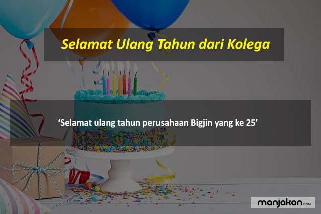 Selamat Ulang Tahun Dari Kolega